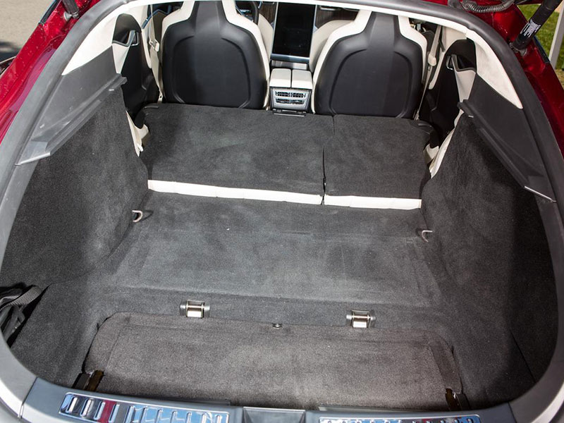 Tesla Model S on top rated car seats