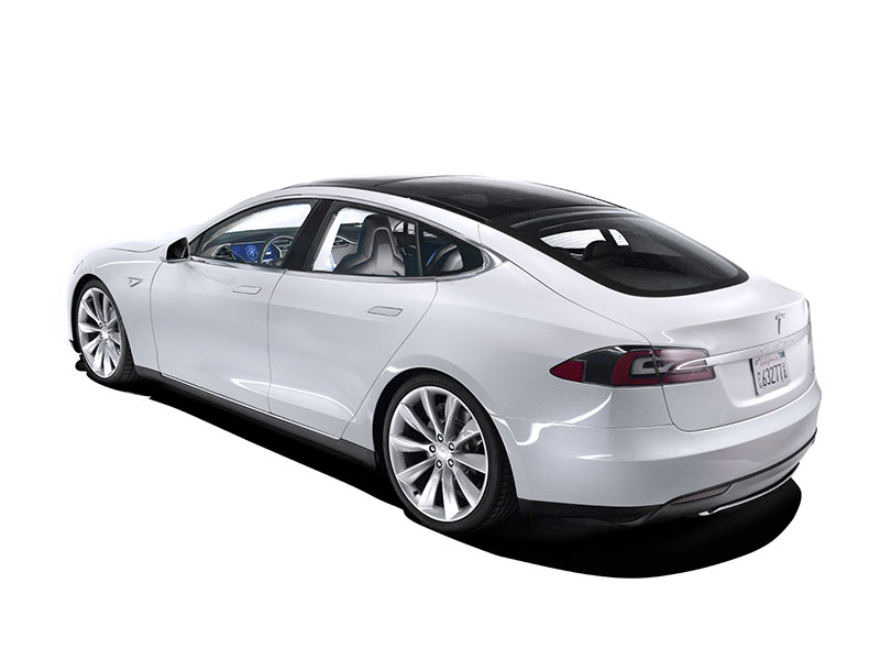 Tesla Model S Rear View