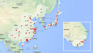 Asia Pacific Supercharger Network 2015