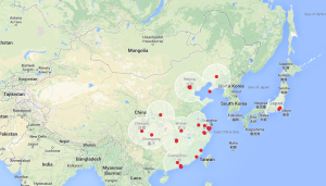 Tesla Asia Supercharger Network - Current
